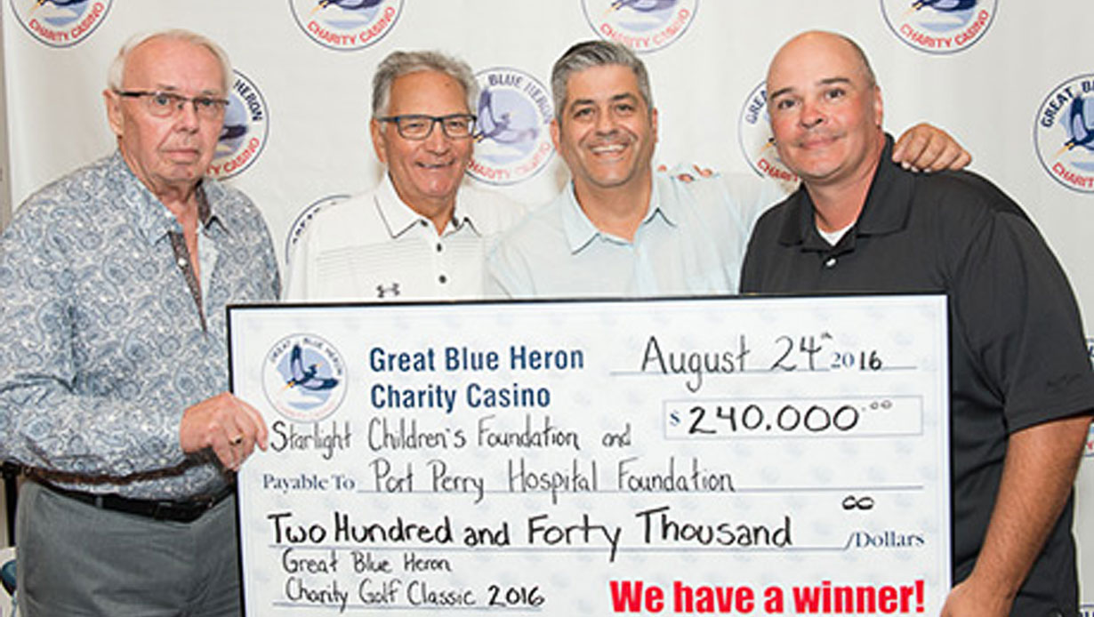 Great Blue Heron Charity Golf Classic Raises a Record $240,000 for Charities