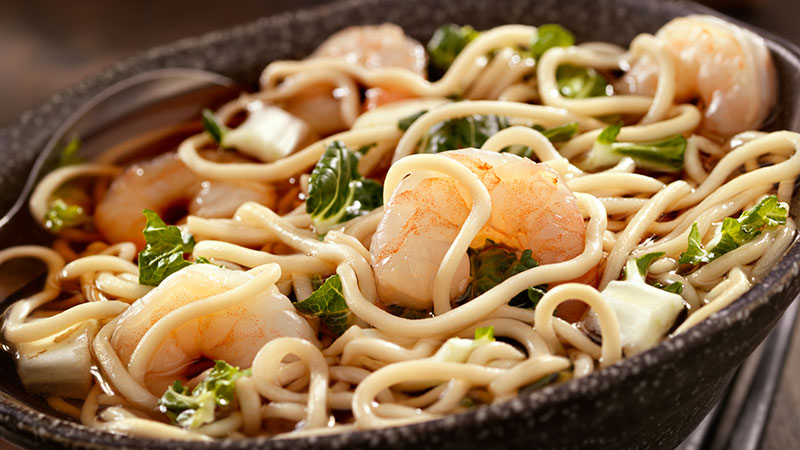 Noodle Soup with Shrimp