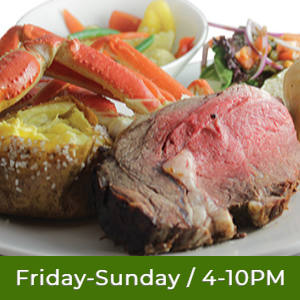 $19.99 Prime Rib & Snow Crab Buffet